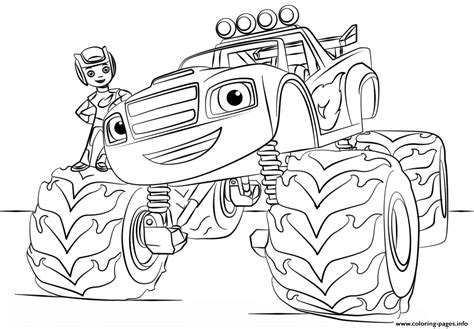 coloring in pages printable blaze monster truck for kids coloring pages printable