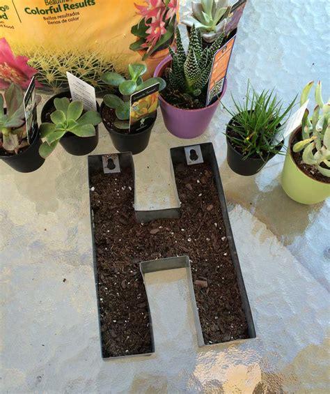 monogram planter monogram succulent garden sometimes homemade