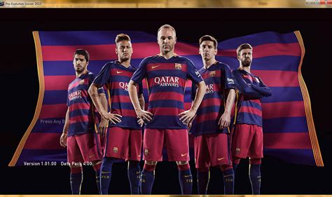 Barcelona Away 1516 For pes 15 barcelona 15 16 nike home kit start screen pes patch