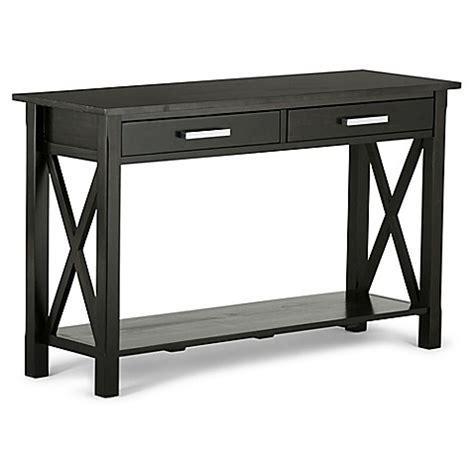 bed bath and beyond sofa table simpli home kitchener console sofa table bed bath beyond