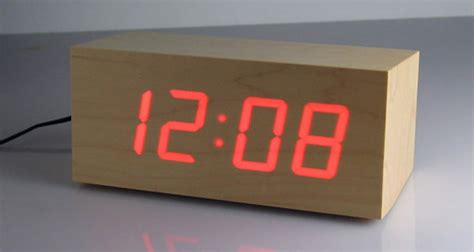 Japanese Style Desk Wooden Led Clock The Green Head