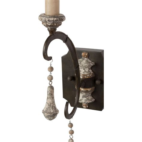 country wall sconce epoch country iron grey single wall sconce pair