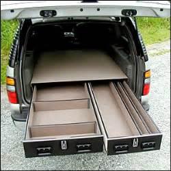 truck vault offset drawer units