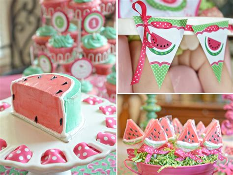 themes for girl 1st birthday party watermelon fruit summer girl 1st birthday party planning ideas