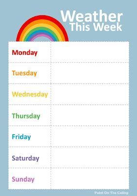 Free Printable Weather Activities For Kids True Aim Weather Graph Template