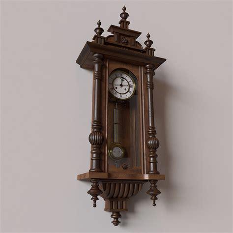 antique wall clocks antique pendulum wall clock 3d model max obj cgtrader
