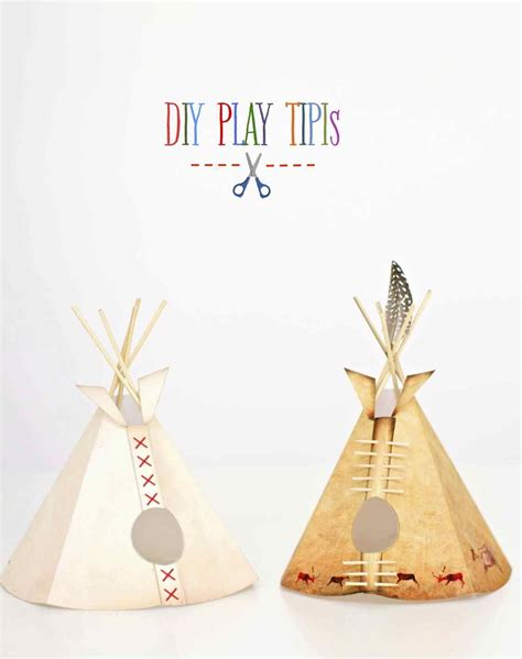 How To Make A Teepee Out Of Paper - a paper reservation