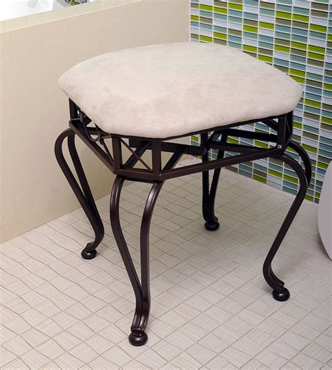 Stool For Vanity by Bathroom White Leather Vanity Stool Vanity Bench For