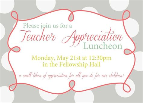 appreciation luncheon letter to parents 14 best staff appreciation luncheon images on