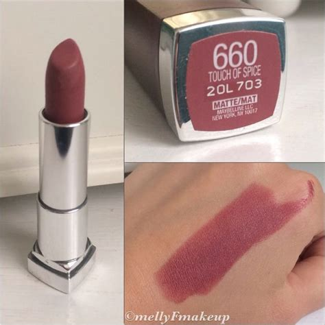 Maybelline Lipstick Matte maybelline color sensational mattes in touch of