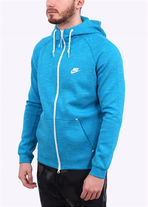 Nike Tech Fleece Aw77 Hoodie Light Blue