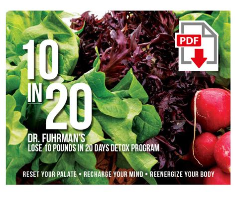 10 In 20 Detox Pdf by 10 In 20 Dr Fuhrman S Lose 10 Pounds In 20 Days Detox