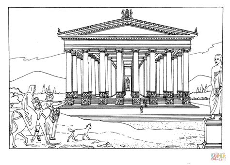 coloring pages seven wonders of the ancient world temple of artemis at ephesus coloring page free