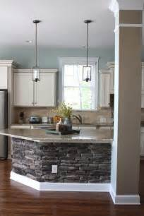 Stone Kitchen Islands Stone Kitchen Island Diy Craft S Home Decor