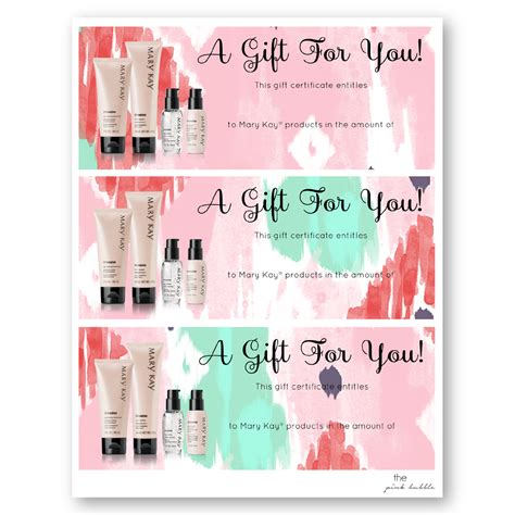 printable gift certificate mary kay gift certificates di 02 png mary kay pinterest gift