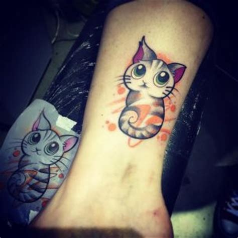 tattoo cat funny ankle tattoos best tattoo ideas gallery