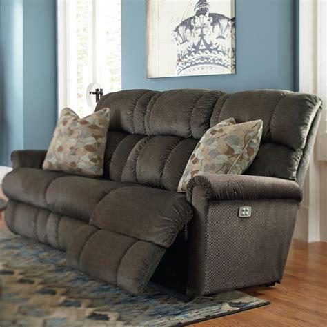 full recline recliners power recline xrw full reclining sofa by la z boy wolf