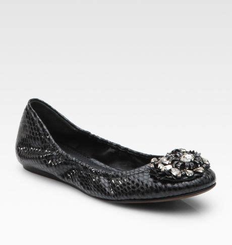 vera wang shoes flats vera wang lavender embellished snake print leather ballet