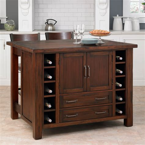 kitchen island sets home styles cabin creek 3 breakfast bar kitchen