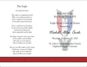 eagle court of honor program template 324 best images about scouts on program
