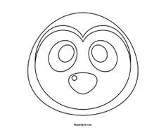 printable penguin mask template penguin mask templates including a coloring page version