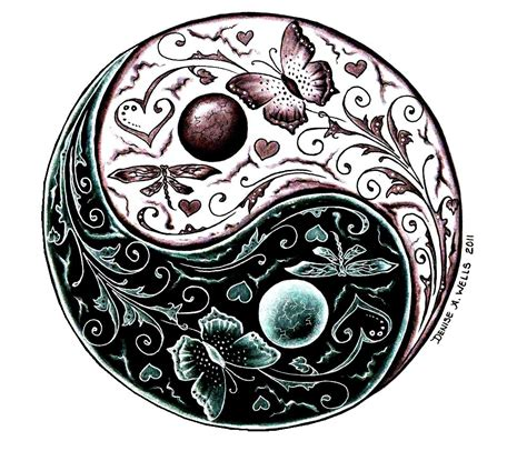 yin yang tattoo design by denise a wells a yin yang