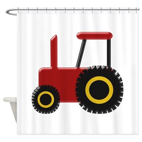 tractor curtains red tractor shower curtain by transportation1