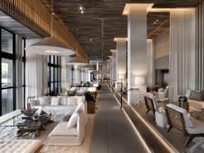 hotel interior designer 1 hotel lobby in south beach custom wood floor installed