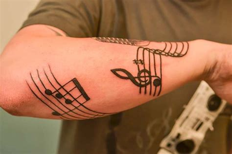 music tattoo designs for guys 3d inspired sketch designs for design idea