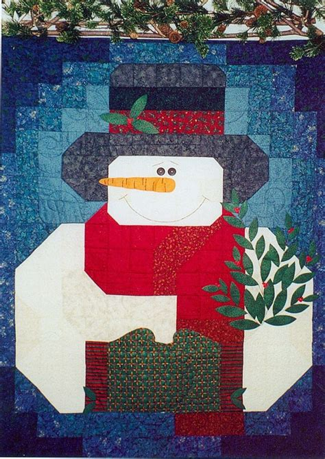 snowman quilt pattern with free buttons included