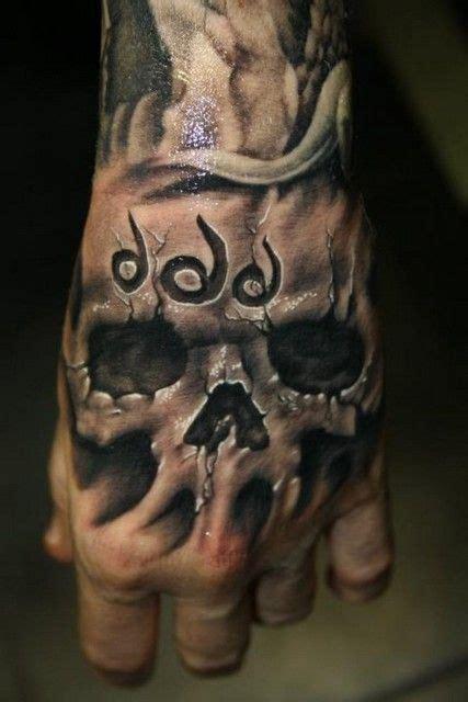 tattoo on hand skull 55 best hand tattoos images on pinterest skull hand