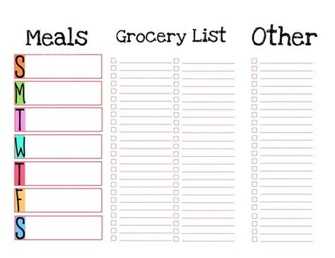 printable meal planner and grocery list make meal planning easier with this printable template