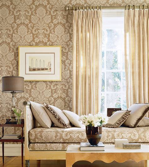 fabric home decor ideas magnificent or egregious damask wallpaper anyone
