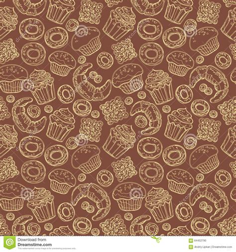 seamless pattern by hand seamless pattern with hand drawn doodle bakery products
