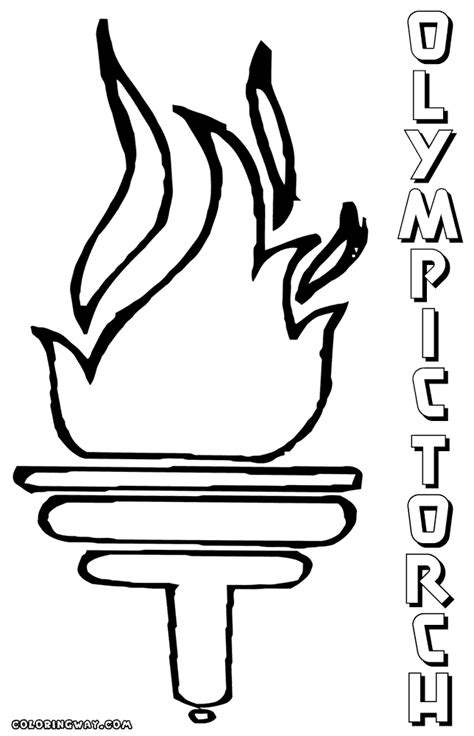 olympic torch coloring page sketch coloring page