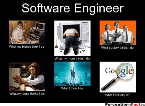 Meme Software - software engineer what my friends think i do what my mom