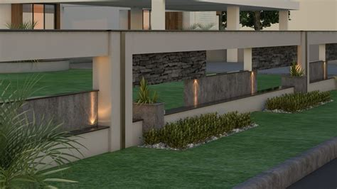 indian house front boundary wall designs search