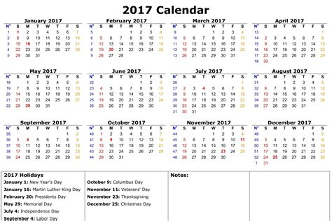 printable calendar 2017 with holidays free calendar template 2017 cyberuse