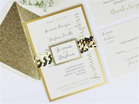 gold glitter wedding invitations uk glitter wedding invitation luxe gold storey weddings