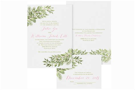 Winter Wedding Invitations by Winter Wedding Ideas Winter Wedding Invitations Inside