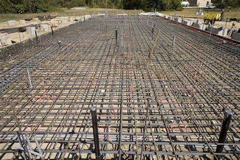 construction of 40 x 120 x 2 thick mat slab foundation