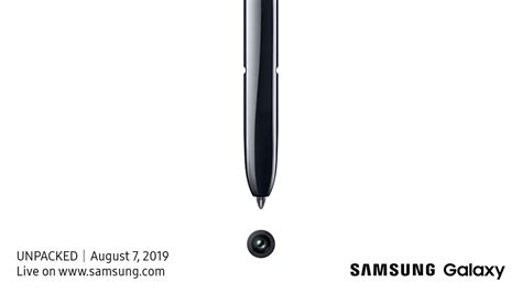Samsung Galaxy Note 10 August 2019 by Samsung Will Unveil The Galaxy Note 10 On August 7th