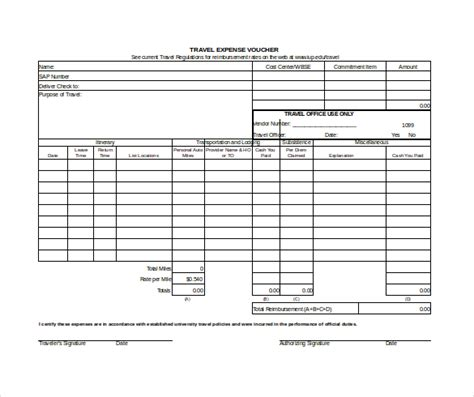 expense voucher template 12 free excel pdf documents