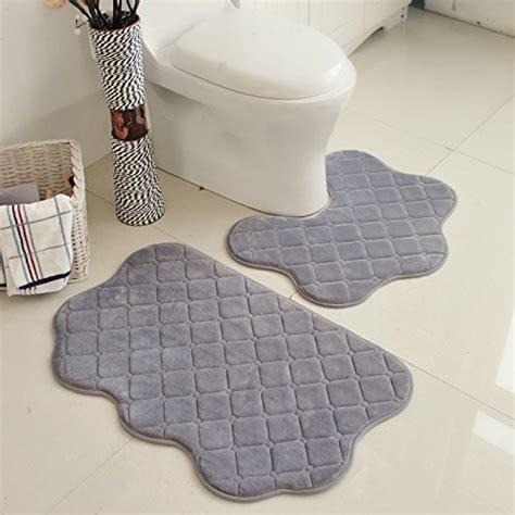 around the toilet rug samloo 2 no slip bathroom rug set toilet water absorption floor mat gray rings n rollers