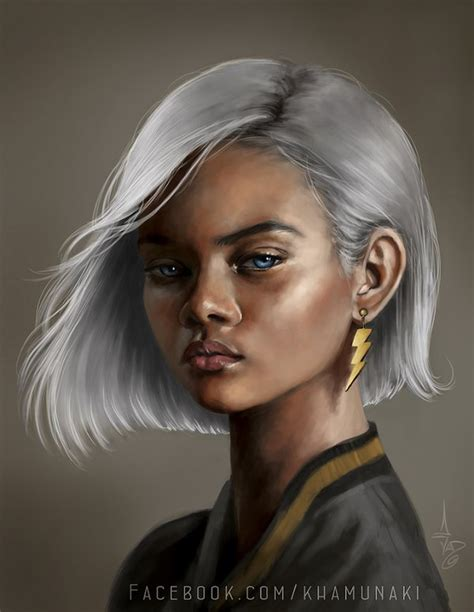 black woman portrait by florin chis on deviantart young storm study by sunkhamunaki on deviantart