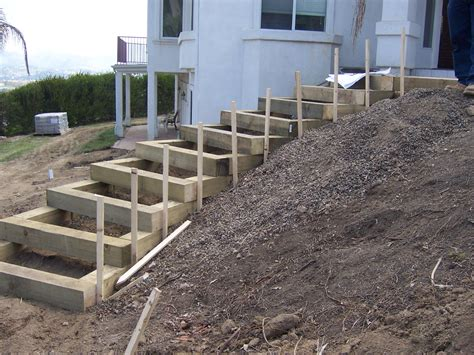 Landscape Timbers Steps The 2 Minute Gardener Garden Elements Landscape Timber