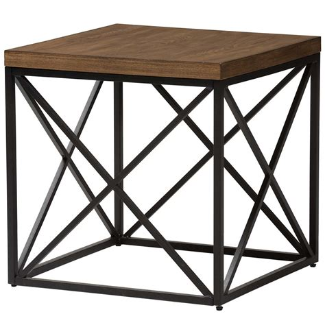 industrial end table industrial square end table in side tables