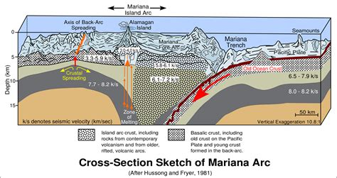 cross section of the world geoscienze geologia della fossa delle marianne