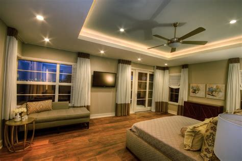 Modern Tray Ceiling Cortona Master Suite Contemporary Bedroom