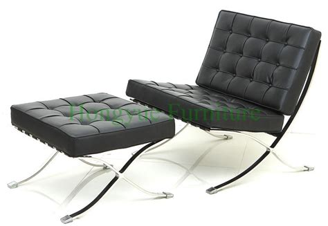 Single Chair With Ottoman Sale Modern Leather Single Seater Barcelona Chair With